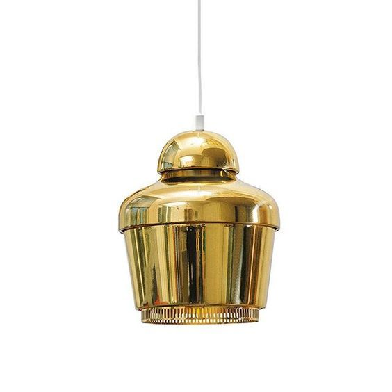 Alvar Aalto's Bell Light (A330s) first appeared in 1939 in the Savoy Restaurant. A more elaborate version was created in 1954. Available from Artek.