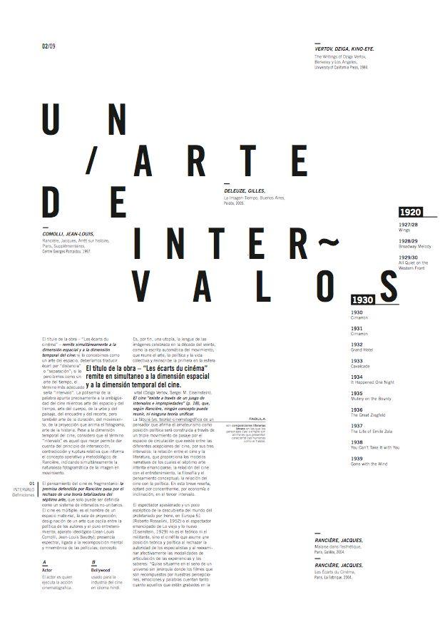 Cinemag | Magazine | Editorial tipográfico on Behance