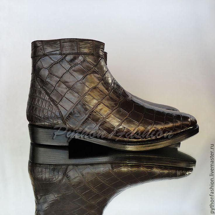 Купить Мужские полусапоги из крокодила DALLAS - обувь ручной работы, обувь на заказ, стильная обувь