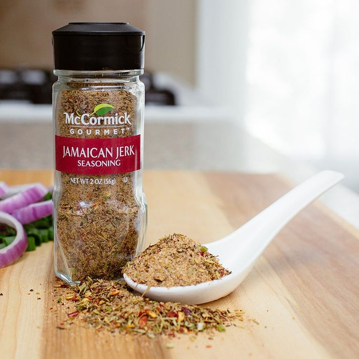 """In Jamaica, the """"jerk"""" method of food preparation involves seasoning meat with a sweet-hot """"secret"""" mixture of peppers, tropical spices like cinnamon and allspice, rosemary and other savory herbs, then slow grilling or roasting. This specially created spice blend captures the tantalizing taste of the islands in just 30 minutes."""