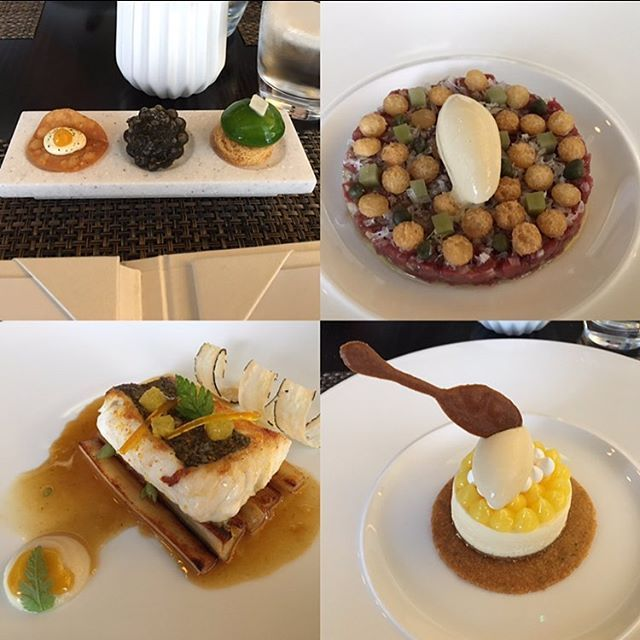 #tb to this amazing meal at @castle_terrace_restaurant last week, top left was a few amuse bouchés, top right was a venison carpaccio topped with a mustard mouse on top, bottom left is a fillet of Hake with salsify and orange jus. Finally was a lemon meringue tart with honey ice cream and a biscuit spoon. Phenomenal food in a brilliant restaurant, stunned these guys don't have a Michelin star anymore! This gets a solid 8/10 from me. #myfullflavourfitness  Yummery - best recipes. Follow Us…