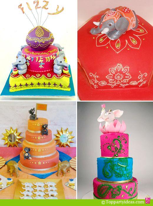 Asian Indian Elephant Wedding Cakes and Birthday Cakes