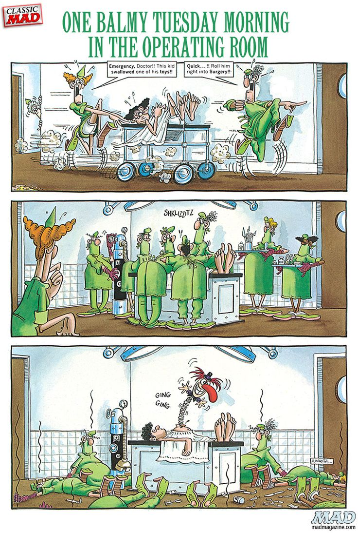 Surgical cartoons surgical cartoon funny surgical picture surgical - Don Martin One Balmy Tuesday Morning In The Operating Room Mad Magazine Work Humoursurgical