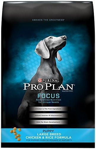 Purina Pro Plan Focus Puppy Large Breed Dry Dog Food Chicken & Rice Formula Standard Packaging 34 lb. Bag