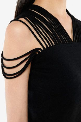MM6 Maison Martin Margiela  Fringe Top Knit dress--try this with a T shirt makeover