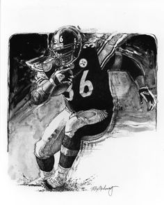 Steelers RB Jerome Bettis by Ron Mahoney