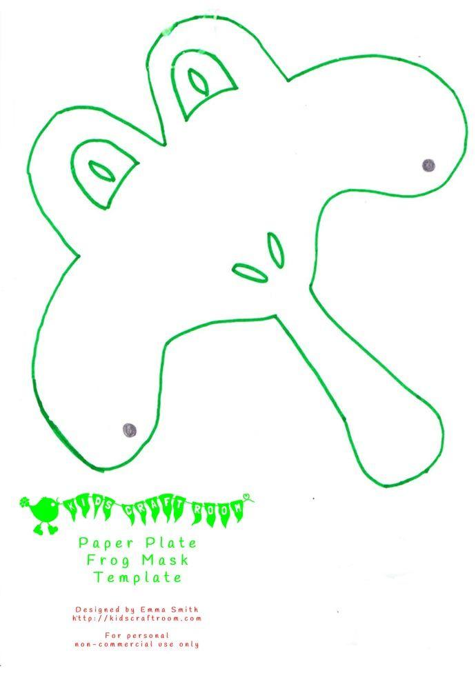Printable Frog Mask Template