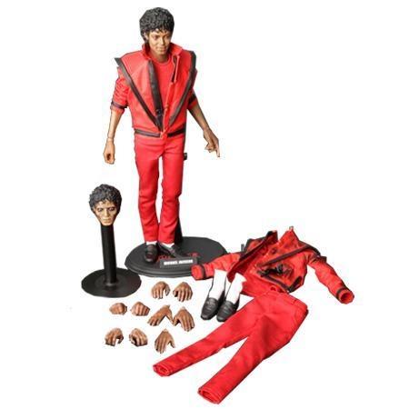 Figura Michael Jackson - Humano y zombie de Thriller, con un tamaño de 30 cms!
