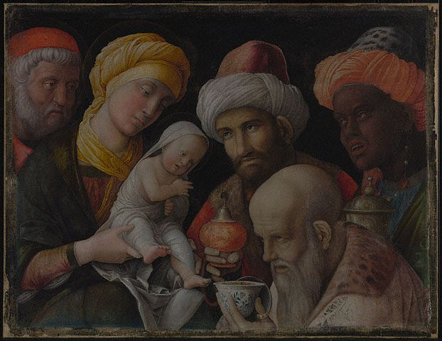Andrea Mantegna, Adoration of the Magi, about 1495 - 1505  (Getty Museum)