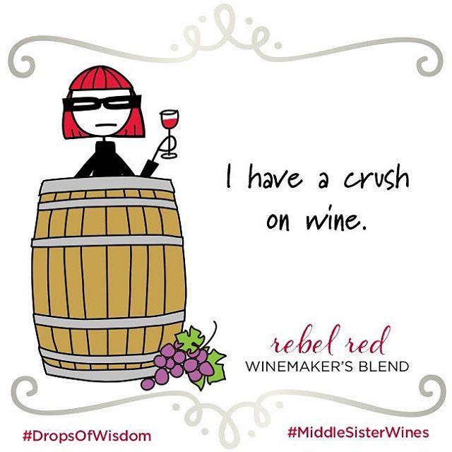 Get it? A CRUSH on WINE!