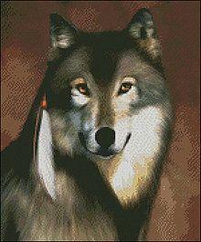 Návody a literatúra - Vlk - predloha na vyšívanie - 4268239_