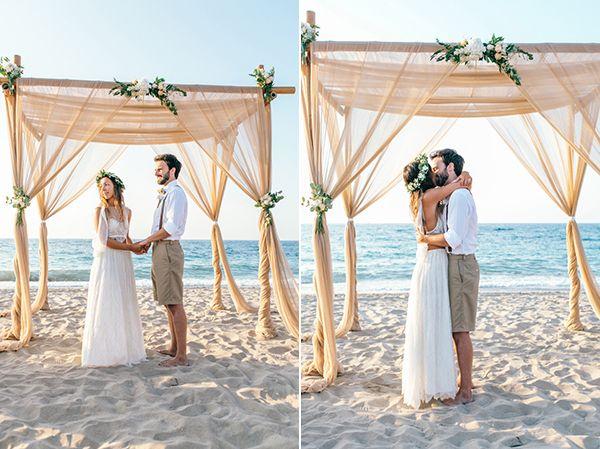 HannaMonika Wedding Photography - beautiful boho beach wedding in Crete www.hannamonika.com