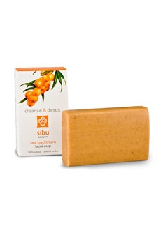 Sibu Beauty Cleanse & Detox Face and Body Bar.Awaken your skin and wash away a day of stress and pollutants with pure, simple and effective Sibu Beauty Sea Buckthorn Face & Body Bar. This facial soap lathers thick and rich to cleanse, detox, moisturize, repair, and protect skin from cell damaging free radicals. $6.95