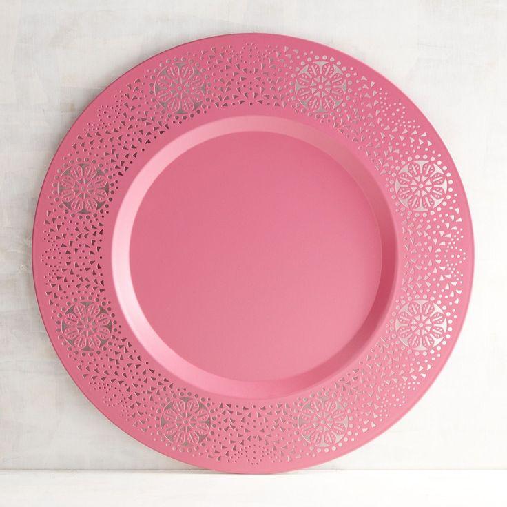 La Isla Pink Metal Charger  sc 1 st  Pinterest & 50 best *Dinnerware \u003e Charger Plates* images on Pinterest