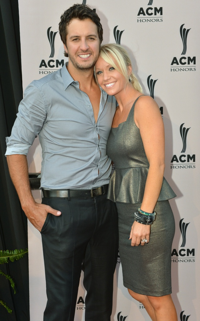 Country music artist Luke Bryan and Caroline Bryan attend the 6th Annual ACM Honors at Ryman Auditorium on September 24, 2012 in Nashville, Tennessee.