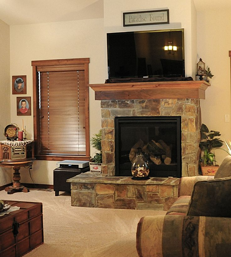 Lovely fireplace.