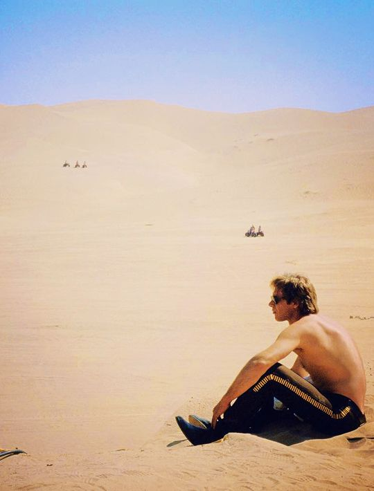 Harrison Ford (Han Solo) on the set of, 'Return of the Jedi'.