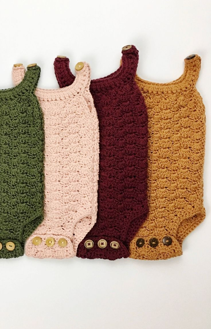 Hand Crocheted Organic Cotton Rompers   jharlowandco on Etsy