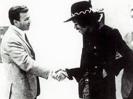 February 12, 1968 – Jimi Hendrix was given an honorary high school diploma from Garfield High School (where he dropped out at 16 years old) in Seattle, Washington. Hendrix was also given the key to the city.