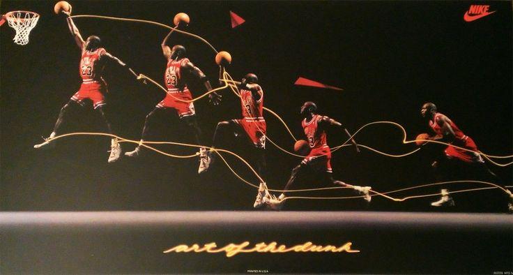 Michael Jordan 'Art of the Dunk' Nike Air Jordan Poster
