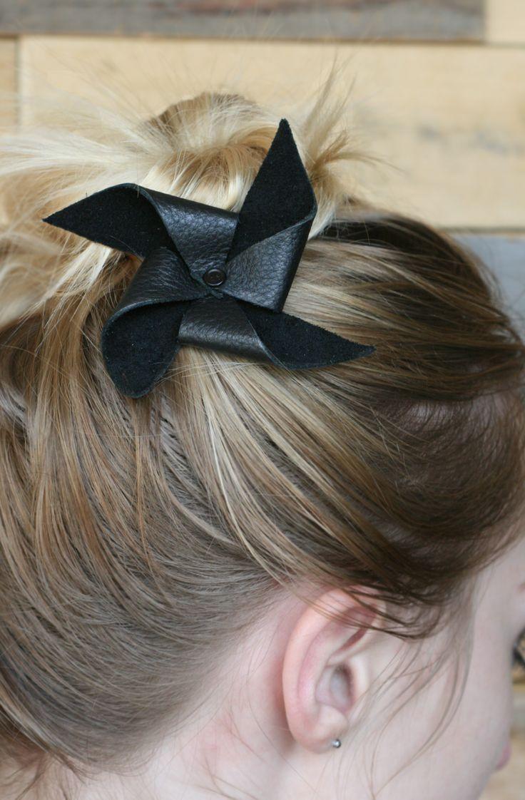 DIY noeud pour cheveux en cuir