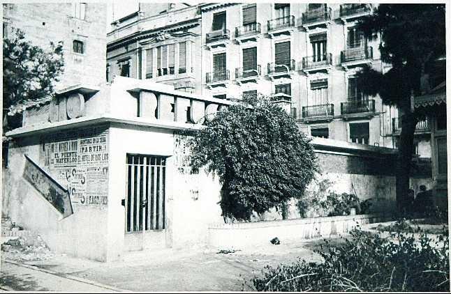 Refugio de la Plaza de la Virgen, en la ubicación actual de los jardines del…