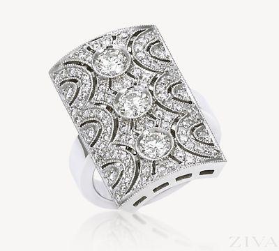 Spectacular Art-Deco Diamond Band