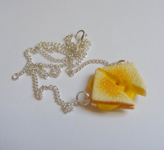 Food Jewelry Grilled Cheese Necklace Miniature Food by NeatEats