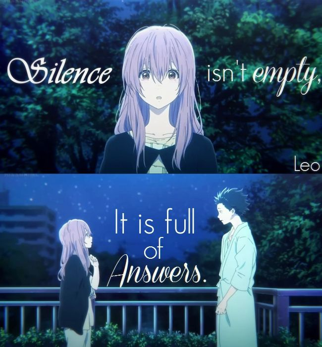 Koe no Katachi quotes  Silent voice quotes