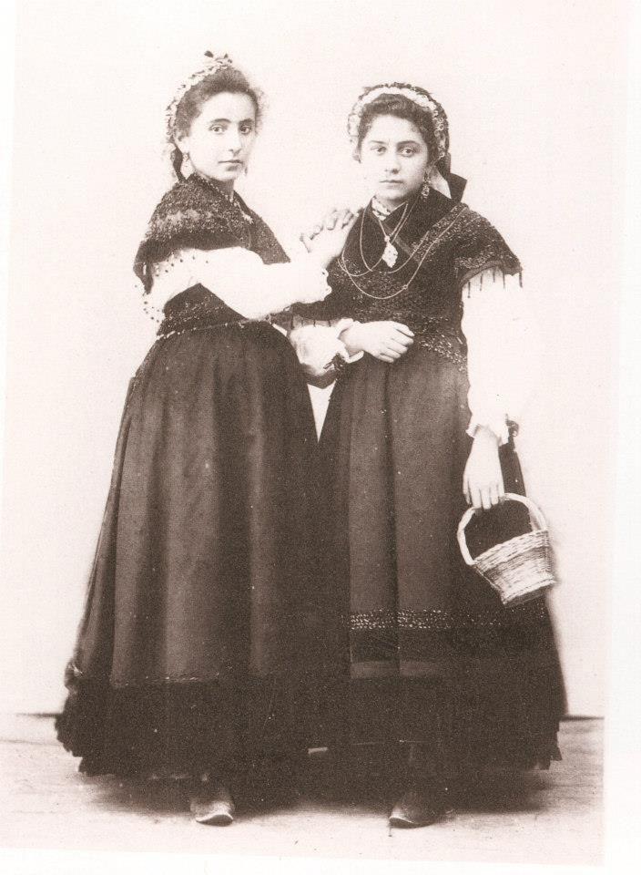 Foto de Zagala. Pontevedra, 1885.