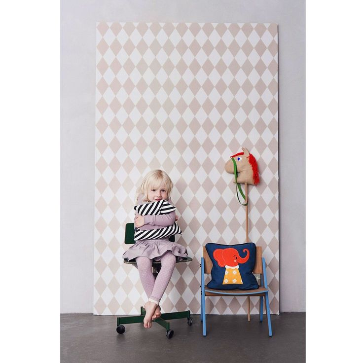 Ferm living tapet Harlequin rose