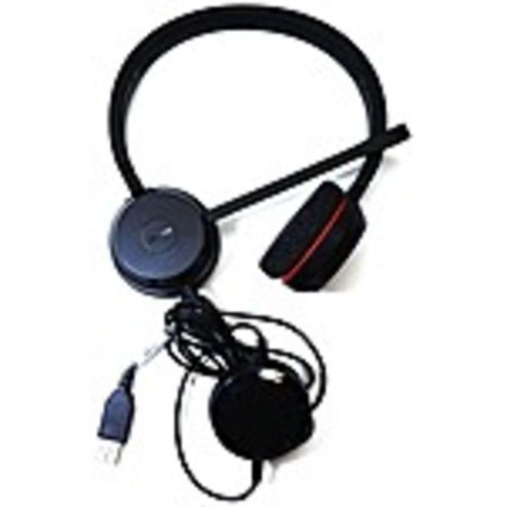 Jabra Evolve 20 Microsoft Lync Stereo - Stereo - USB, Mini-phone - Wired - Over-the-head - Binaural - Supra-aural - Noise Cancelling Microphone