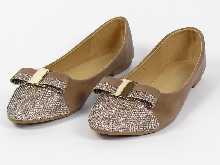 BALLET FLATS- Khaki/gold    eBay