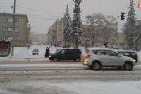 Banská Bystrica - Národná ulica v januári 2015