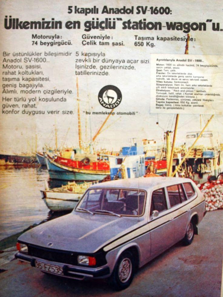 OĞUZ TOPOĞLU : anadol sv 1600 1975 nostaljik eski reklamlar