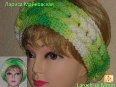 Женская повязка на голову с заплетенной косой.