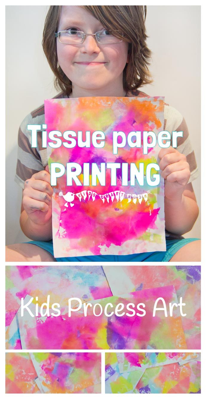 Have you ever printed with tissue paper before? You'll love how bright and colourful the results are. Printed Tissue Paper Art is a fantastic process art technique for kids of all ages and such fun to do too!