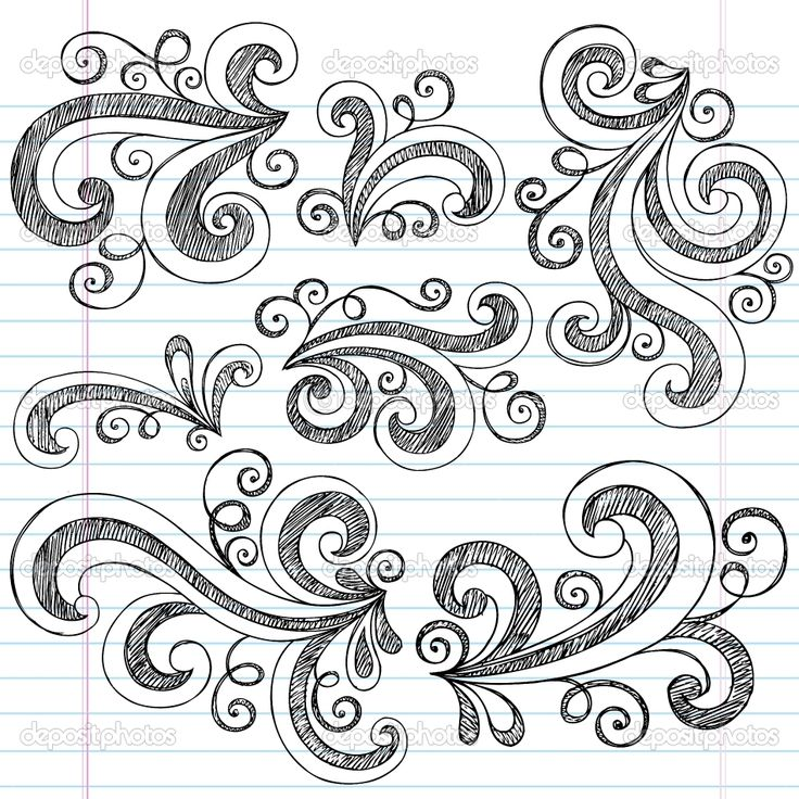 Simple Doodle Ideas | Sketchy Doodle Swirls Vector Design Elements | Stock Vector © blue67 ...