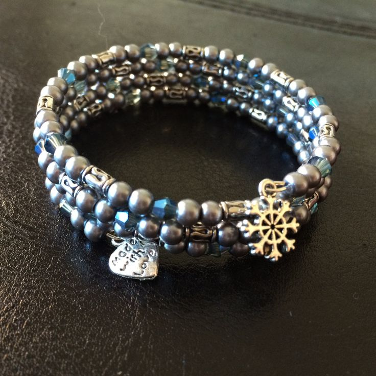 Memory Wire Bracelet  - Dreaming of the first snowfall - made with love xx by CharmingDeva on Etsy