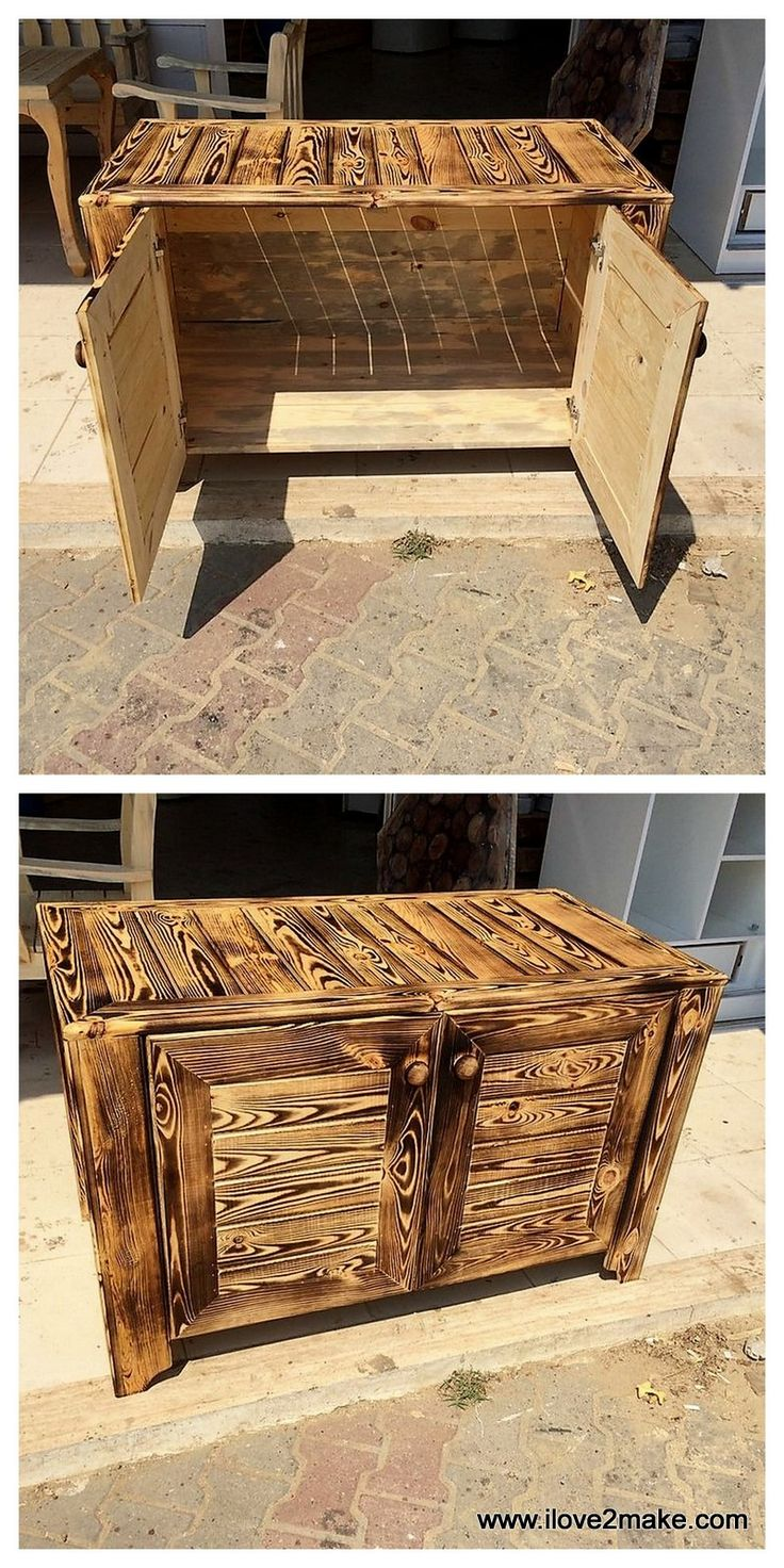 Best 25 pallet cabinet ideas on pinterest pallet for Making cabinets out of pallets