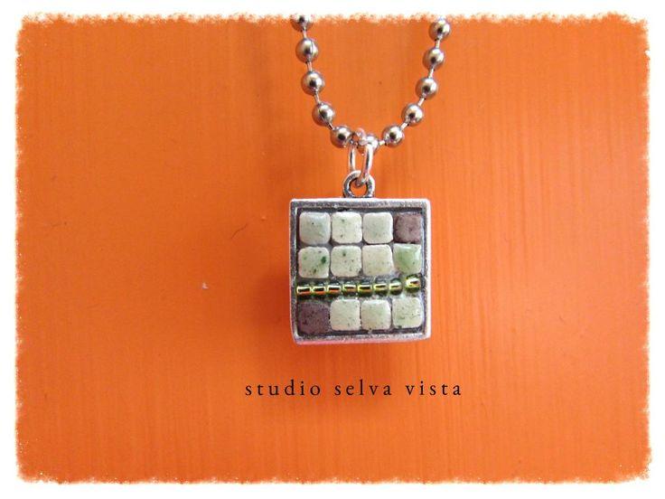 """Zen"" mosaic jewelry, pendant by Studio Selva Vista"