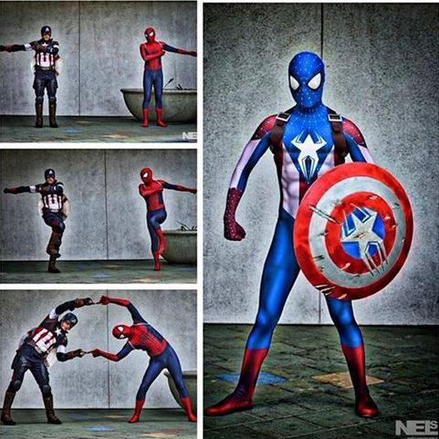Cosplay Master Invents Captain Spider-Man Hybrid Superhero Suit! http://www.visiontimes.com/2015/04/10/cosplay-master-invents-captain-spider-man-hybrid-superhero-suit.html
