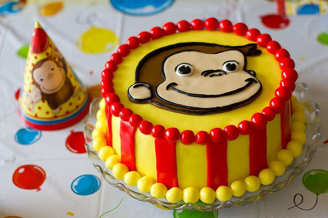 Curious George birthday cake by Pixie Little, via Flickr