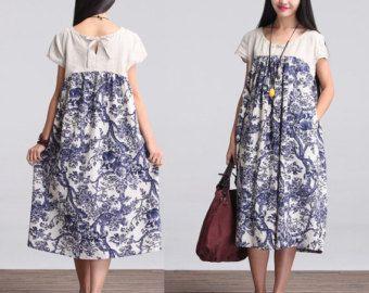 Mal ajustés Maxi Dress - robe d'été - lin robe bain de soleil pour femmes - LYQ-017