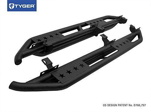 Tyger Auto TG-JA2J2239B Side Step (TYGER Star Armor Kit for 2007-2016 Jeep Wrangler JK 4 Door | Textured Black | | Nerf Bars | Running Boards)