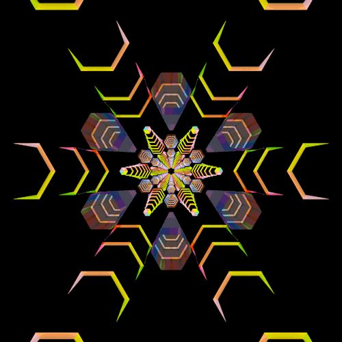 Dazzling animations make the hexagon a psychedelic experience | tumblr blog Hexeosis