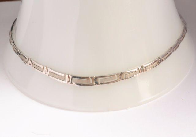 16 inch Greek Key Sterling Silver Choker Necklace   eBay