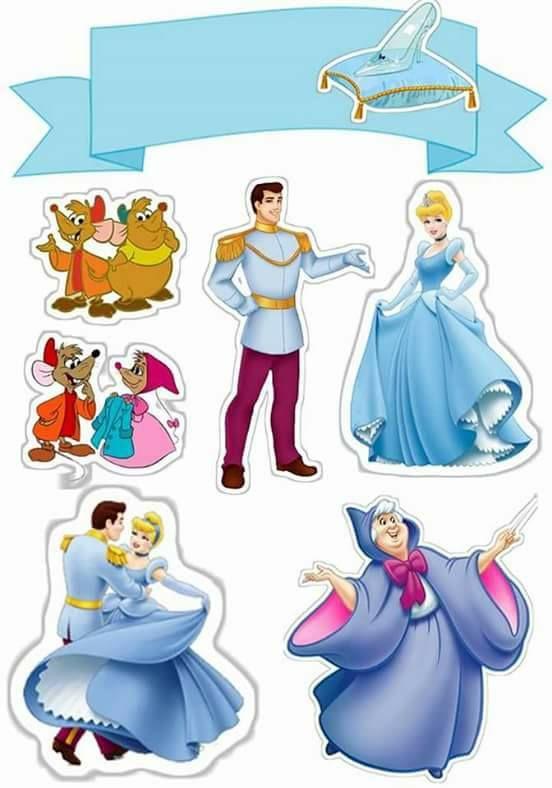 Cinderella Free Printable Cake Toppers Cinderella Topper