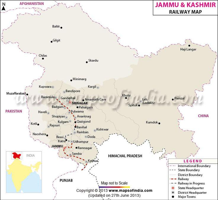 Jammu & Kashmir Railway Network Map