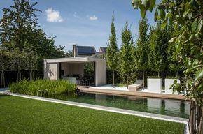 Poolhouse en buitenkeuken bogarden vijver en tuin inspiratie